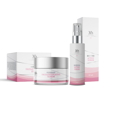 Myni's Collagen csomag - Hidratáló Arc-és Dekoltázs krém & Aktív Szérum 2*50ml